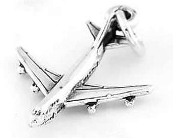 Sterling Silver Passenger Airplane Charm