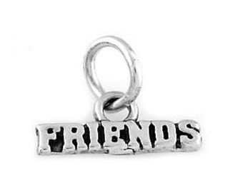 Sterling Silver Friends Charm (Flat Charm)