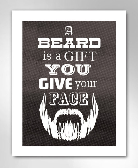 BEARD GIFT Art Print by Rob Ozborne