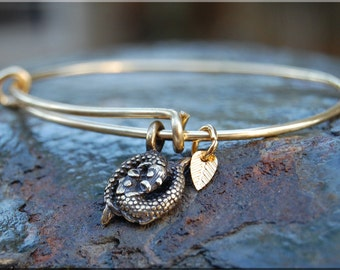 Pisces Expandable Bangle bracelet, Zodiac Bangle, Sterling Silver, Gold stacked bangle, Zodiac jewelry, stacking bangle, adjustable bangle