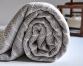 Diamond Turkish Bath Towel Bamboo Peshtemal Towel in Ice Grey Pure Soft