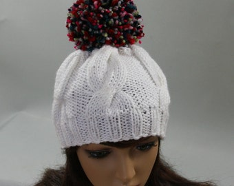 Accessories Slouchy Knitted Hand Knit cable Hat cable knit hat slouchy women Slouchy Beanie Knit Hat Chunky Knit Winter Fall