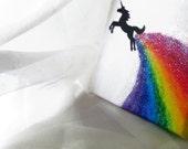 Rainbow Maker- Unicorn canvas art, funny art