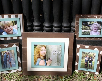 Distressed Picture Frames, Wall Collage, Set of 5 Frames, 8x10 Frame, 5x7 Frames, Wall Grouping, Gallery Wall Frames