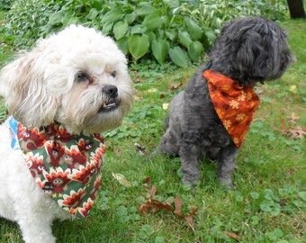 Fall Dog Bandana, Cat Bandana - Thanksgiving Turkeys or Fall leaves
