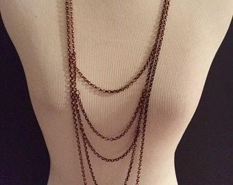 5 Tiered Bronze Necklace