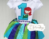 Mermaid shirt, UNDER THE SEA, Mermaid applique,mermaid birthday party, first birthday, second birthday, beach birthday, mermaid tutu