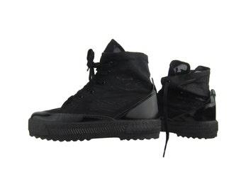 SALE % Black Mesh See Through Vintage Sneakers