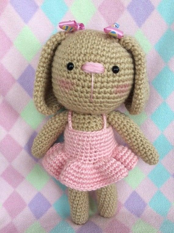Amigurumi Bunny In Dress : crocheted amigurumi bunny in pink dress