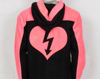 Neon Rave Hoodie (Pink) , Costume, Cosplay, Adult Size, Hand-made