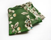 Green Botanical Cloth Napkins- Set of 4- Limited Edition