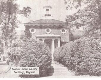 Vintage Photo Postcard.....Thomas Balch Library, Leesburg VA....Unused...no. 2592