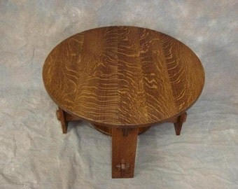 Round Quartersawn Oak Mission Wedged Tennon Coffee Table Free Shipping