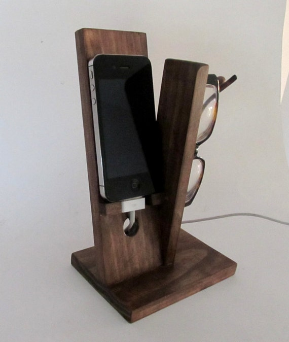 items similar to iphone stand with eyeglass holder