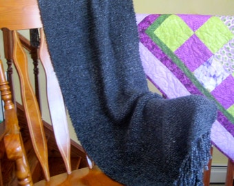 Hand Knit Shawl, Prayer Shawl, Comfort Shawl, Guest Room Shawl