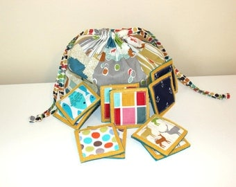 Custom - Memory Matching Game + Pouch - Great for Kids & Adults