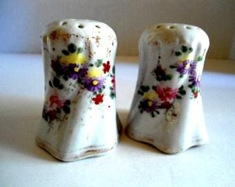 Vintage Salt & Pepper Shakers Hand Painted Unmarked