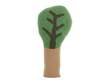 Green TREE shaped pillow