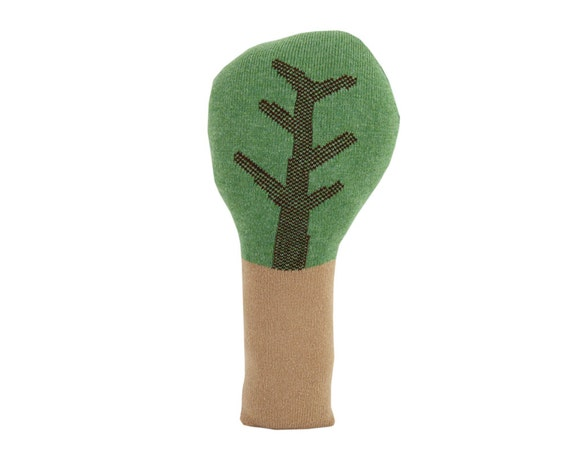 Green TREE shaped pillow