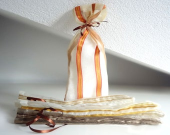 Travel lingerie bag in voile fabric very elegant