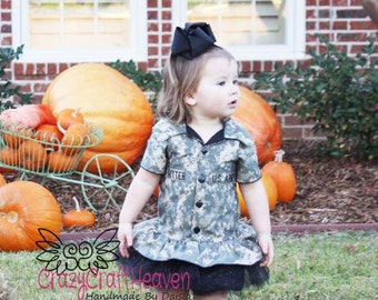 Military Dress, (All Branches) ACU dress, Toddler, Military inspired dress, welcome home outfit, maines, military, Military pageant, us navy