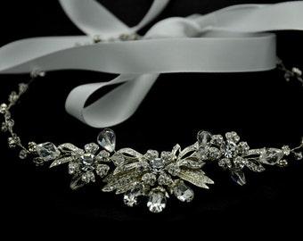 Bridal Hair Vine - Crystal hair vine, halo