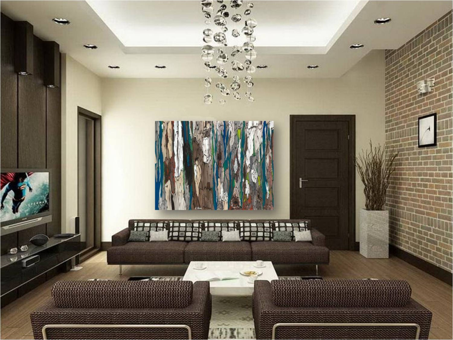 huge masculine Extra LARGE wall Art canvas bedroom by ...