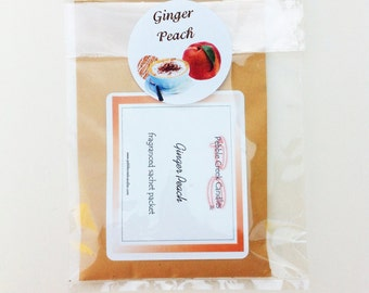 Ginger Peach Scented Room Sachets Cheap Gifts Idea for Office Coworker Desk Drawer Freshener Interior Design Ideas Style Rustic Modern Chic