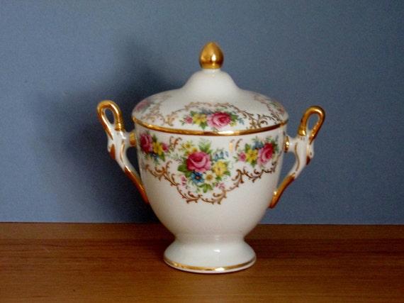 limoges urn box pedestal bowl with flower pattern vintage. Black Bedroom Furniture Sets. Home Design Ideas