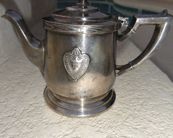 Vintage early 1900s metal  teapot from the old Dayton Biltmore Hotel, Collectible and Sought After, Rare