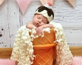 Baby Ice Cream Sundae Hat - Scoop of Love- Photography Prop