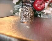 SALE Vintage sterling silver marcasite ring  sz. 6 or 6 half