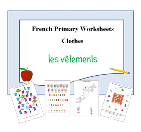 french printable activities to learn names of clothesexercise. Black Bedroom Furniture Sets. Home Design Ideas