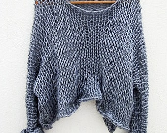 Hand knitted wool sweater, autumn sweater