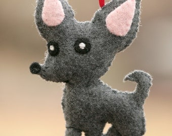 Super Cute Chihuahua Dog Felt Ornament