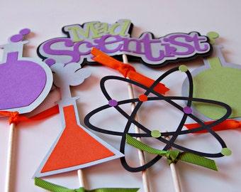 Scientist Birthday Party Centerpiece, Chemistry Party Decorations, Science Birthday Centerpiece