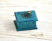 Valentines gift for women turquoise anniversary gift be romantic gift  love you gift  unique music box Vivaldi Spring