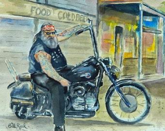 Rough Rider - original watercolor painting