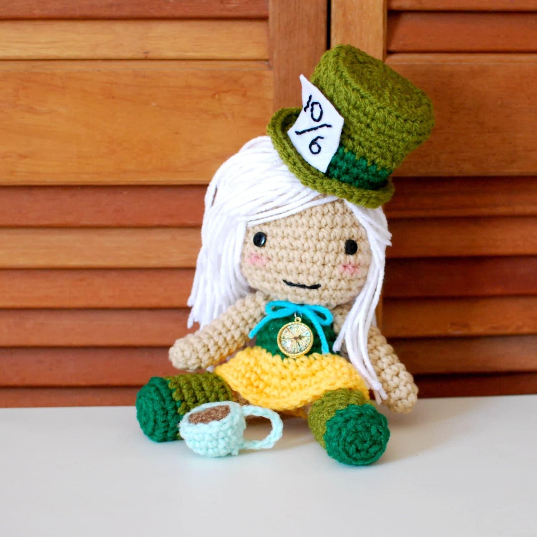 Mad Hatter Amigurumi : Mad Hatter Inspired Crochet Amigurumi Plush by ...