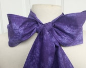 Upcycled Steampunk Clothing, Mad Hatter Bow Tie - Alice in Wonderland (Purple Cotton Print) Neck Tie, Handmade Bow Tie