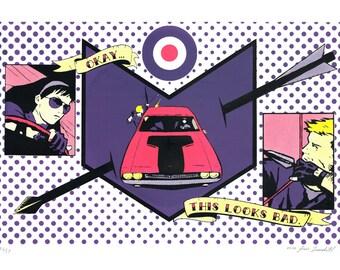 Hawkeye Marvel Comics Pop Art Silkscreen Print