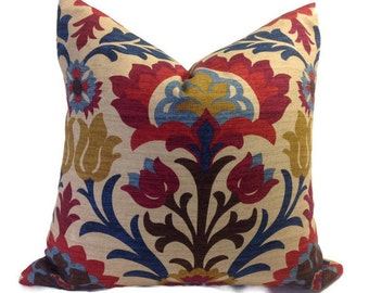 Bright red pillow Etsy