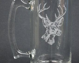 White Tail Deer Laser Engraved Mug