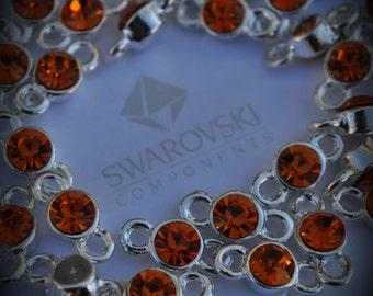 Sun Genuine Sterling Silver Plated Swarovski Crystal Connectors Link T700