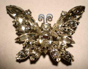 Rhinestone Butterfly Hairpin
