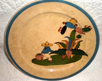 Small Yellow Tlaquepaque Plate