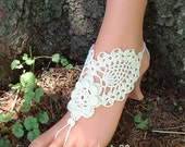 Barefoot Sandals, Sexy Barefoot Shoes, Footless Sandals, Foot Jewelry, Barefoot Sandal, Crochet Wedding Anklet, Beachwear Accessories Shoes