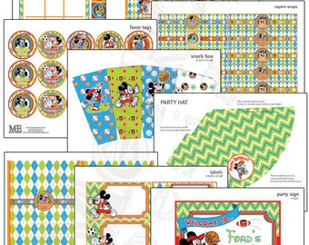 Mickey Mouse All Star Sports Birthday Party Decor