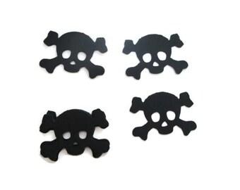 25 Skull and Crossbones Paper Cutouts - Halloween projects, pirate party, skulls/crossbones, DIY projects, black skulls, Halloween party
