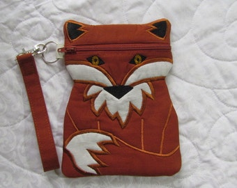 Finnian Fox Wristlet Purse Bag